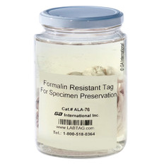 "Formalin Resistant Tags - 3"" x 500' / 76mm x 152m  #ALA-76C3-500"