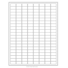 "Cryo Ink-Jet Labels - Sheet Format - 0.94"" x 0.5"" #AJA-12"