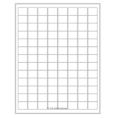 "Cryo Ink-Jet Labels - Sheet Format - 0.94"" x 0.78"" #AJA-32"