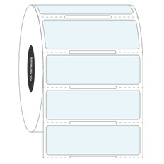"Clear Cryogenic Barcode Labels - 2"" x 0.625"" #HBCL-85NOT"