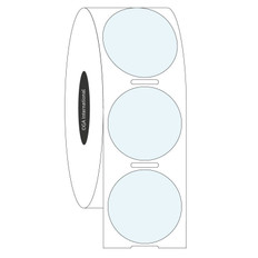 "Clear Cryogenic Barcode Labels - 1"" circle #HBCL-115"