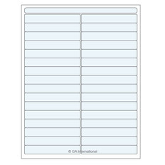"Clear Cryo & Autoclave Laser Labels - 4"" x 0.625""  #DFLT-77"