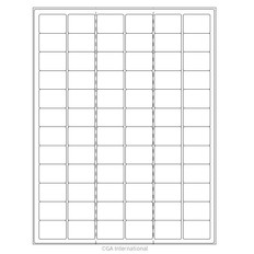 "Cryo Ink-Jet Labels - Sheet Format - 1.26"" x 0.87"" #AJA-9"