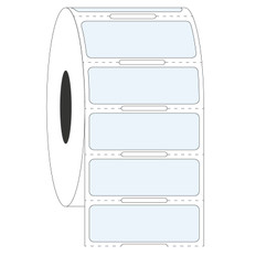 "Clear Cryogenic Barcode Labels - 1.5"" X 0.5"" #HBCL-240NOT"