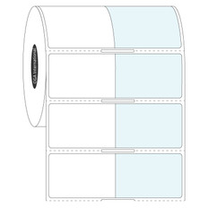 """Wrap-Around Labels for Frozen Containers - 1.5"""" x 1"""" + 1.5"""" wrap  #FIX-329NOT"""