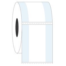 "Cryogenic Cover-Up Label for Frozen Vials - 0.875"" x 2"" #L2FC-5"