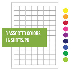 "Cryo Laser Labels - 0.98"" x 0.86"" #A4CL-74 (8 colors assorted)"