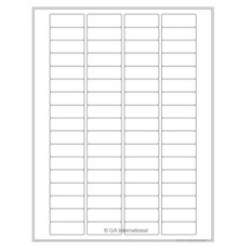"Cryo Ink-Jet Labels - Sheet Format - 1.625"" x 0.61"" #AJA-80"
