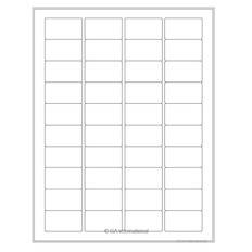 "Cryo Ink-Jet Labels - Sheet Format - 1.75"" x 1"" #AJA-79"