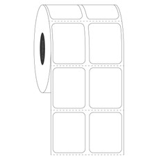 """Paper Labels for Direct Thermal Printers - 1"""" x 1.25"""" #DT-249"""
