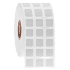 """Stain Proof Xylene Resistant Labels - 0.375"""" x 0.375""""  #XST-255 Notch"""