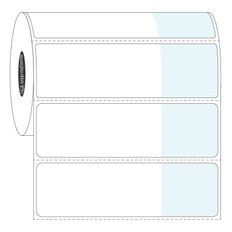 "Wrap-Around Labels for Frozen Vials - 2.75"" x 1.1875"" + 1.25"" wrap  #FSA-334"