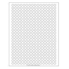 "Cryo Ink-Jet Labels - Sheet Format - 0.35"" circle #AJA-10"