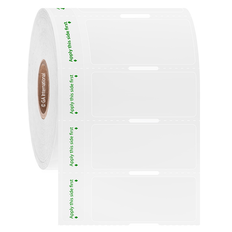 "Cryogenic Thermal Transfer Labels for Frozen Vials and Tubes - 1.75"" x 0.75"" #AHA-268"