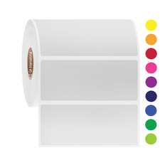 "Permanent Solvent-Resistant Color Labels for Containers - 3"" x 1.25"" #AUA-86"