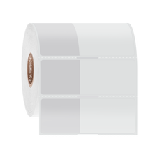 "Wrap-Around Cryo & Autoclave-Resistant Thermal-Transfer Labels - 1.125"" x 1"" + 1.595"" Wrap #CATT-303 Notch"