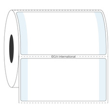 "Cryogenic Thermal Transfer Labels for Frozen Vials & Containers - 2.5"" x 1.5""  #L2FS-7"
