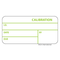 "Self-Laminating Calibration Labels - 1"" x 2.125""  #CAL-002-1R-TGA"