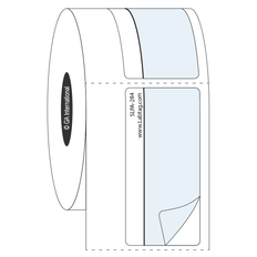 """Print and Shield Permanent Labels for Autoclave and High Temperatures - 1"""" x 2.125""""  #SLPA-284"""