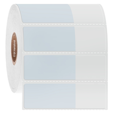 "Cryogenic Cover-up Labels for Frozen Vials - 1.57"" x 0.75"" + 0.93"" wrap  #AEA-7"