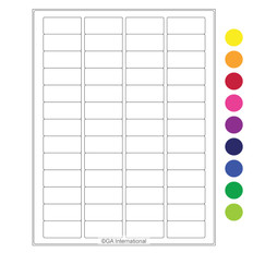"High Quality Laser & Inkjet Matte Paper Labels - 1.77"" x 0.79""  #LIP-8"