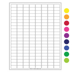 "High Quality Laser & Inkjet Matte Paper Labels - 0.94"" x 0.5""  #LIP-12"