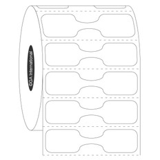 "Double-Sided Black Jewelry Dumbbell Labels - 2"" x 0.5""  #DSDB-1"