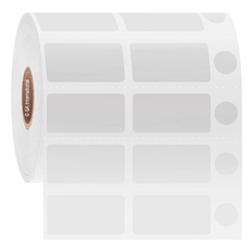 """Deep-Freeze Labels for Thermal Transfer Printers - 1.25"""" x 0.625"""" + 1.25"""" x 0.625"""" + 0.375""""  #FJT-266"""