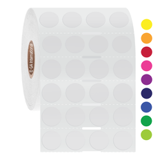 """Deep-Freeze Labels for Thermal Transfer Printers - 0.5"""" Circles  #FJT-500NOT"""