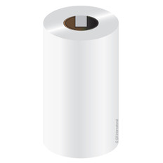 "White Thermal Transfer Smudge Proof Resin Ribbon - 2.36"" x 492' #RR60X150C1-1iZ4WH"