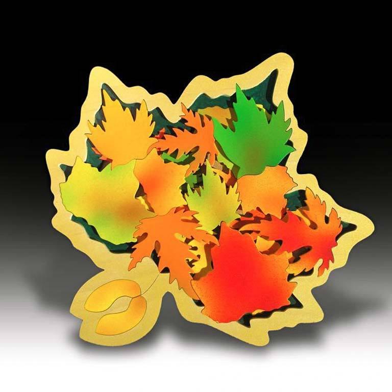 3D, 2 LAYER LEAF PUZZLE