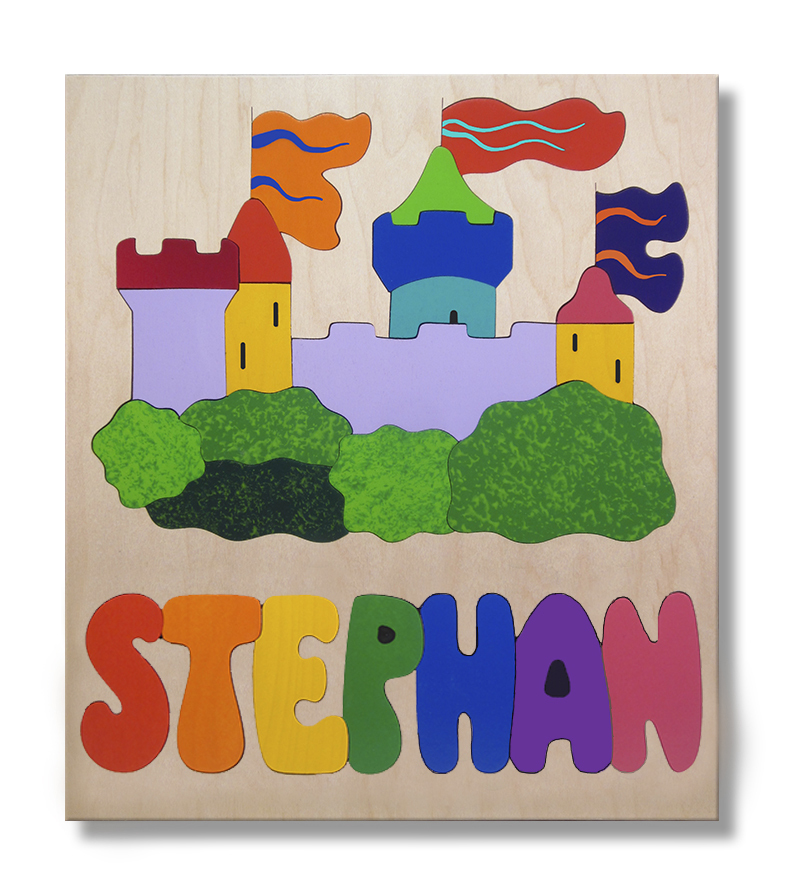 Castle Wooden Name Puzzle