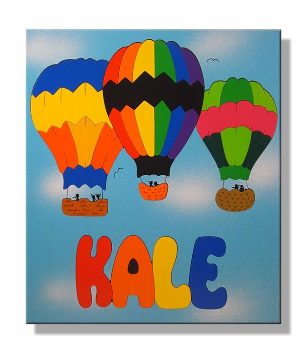 Hot Air Balloon Name Puzzle
