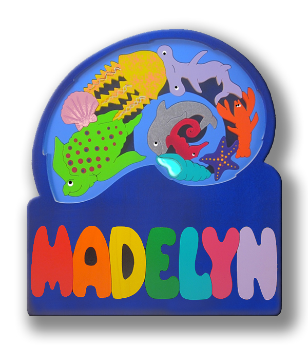 layered personalized name puzzles nautilus tide