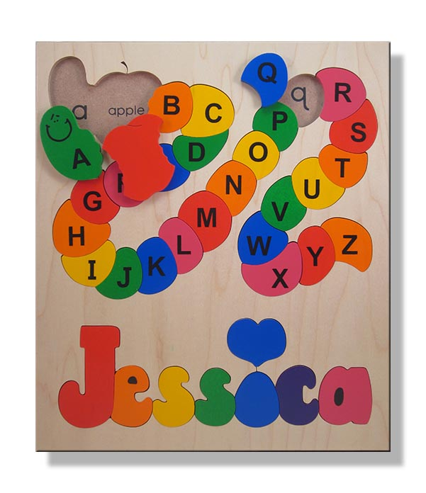 wooden personalized name puzzles