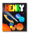 Wood Name Puzzle for Kids with Planets in the Solar System
