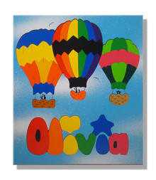 Hot Air Balloon Name Puzzle for Kids