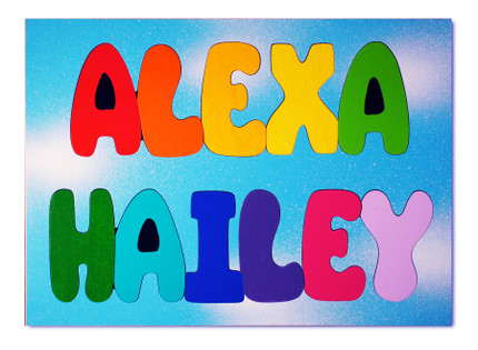 Wooden Two Name Puzzle