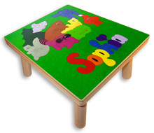 Childs name puzzle stool