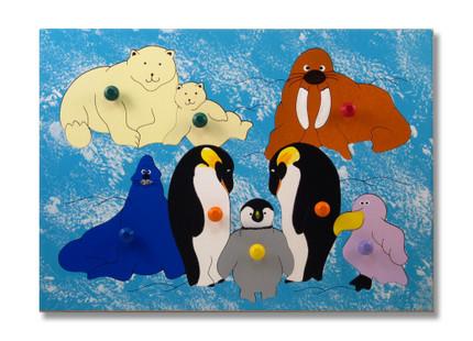 Polar Animal Wooden Puzzle