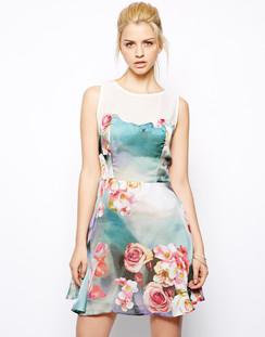 Glamorous Đầm Trắng Hoa Hồng