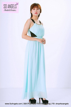 Flower by Charms Paris Đầm Maxi Dạ Hội Mint