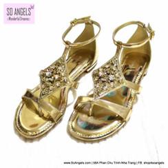 Gianni Bini Sandal Dây Ánh Vàng Trang Trí Đá-38