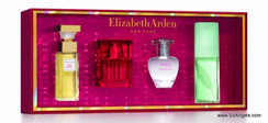 1 5th Avenue EDP 10ml, 1 Red Door EDT 10ml, 1 Pretty EDP 10ml, 1 Green Tea Scent 15ml.