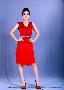 Antonio Melani Đầm Đỏ Sang Trọng