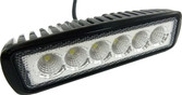 "MINI LIGHT BAR 6"" 18 WATT 6 X 3 WATT CHIPS SPOT BEAM"