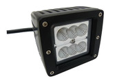 24 Watt  Flood Beam Square Housing Miniature LED Work Light