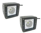 15 Watt  Flood Beam Square Housing Miniature LED Work Light  ** 2 PACK **