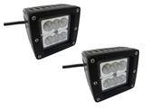 24 Watt  Flood Beam Square Housing Miniature LED Work Light  ** 2 PACK **