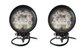 27 Watt Flood Beam Round LED Work Light  ** 2 PACK **